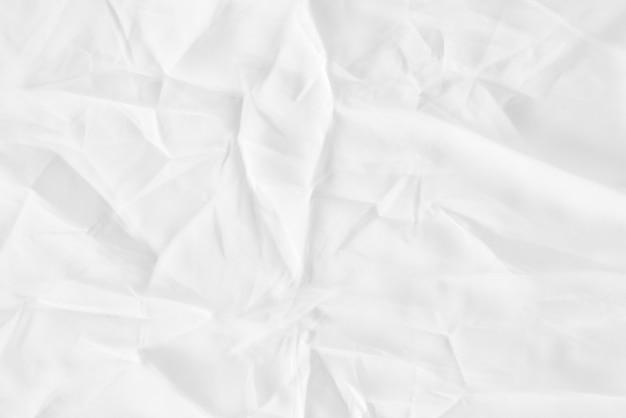 Biała tkanina pomarszczona tekstura