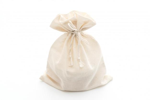 Biała torba z materiału