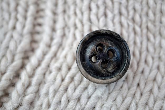 Biała wełna, biała tkanina ręcznie robiona