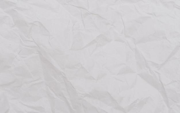 Biała Zmięta Papierowa Tekstura. Premium Zdjęcia