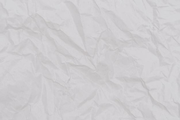Biała zmięta papierowa tekstura.