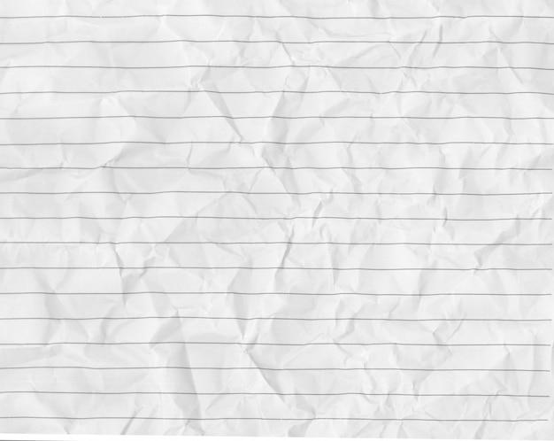 Biała zmięta papierowa tekstury przestrzeń.