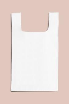 Biała zwykła torba na zakupy wielokrotnego użytku