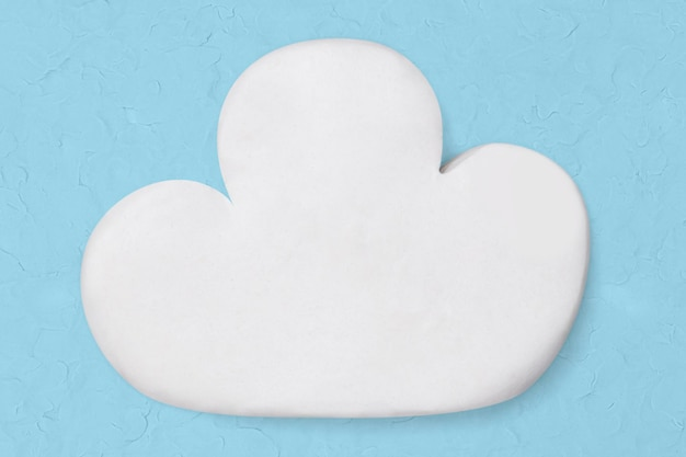 Białe chmury gliniane rzemiosło śliczne ręcznie robione kreatywne grafiki artystyczne