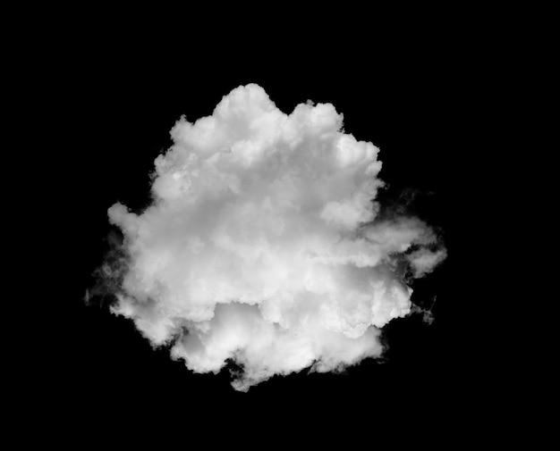 Białe chmury lub dym na czarnej ścianie