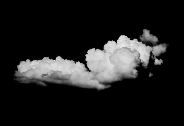 Białe chmury na czarnym tle
