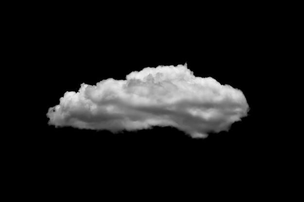 Białe chmury na czarnym tle.