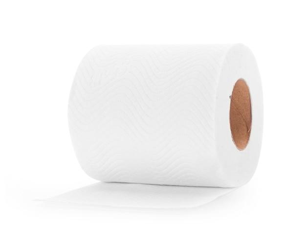 Białe chusteczki na białym tle.