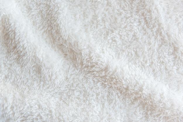 Białe delikatne miękkie tło pluszowej tkaniny