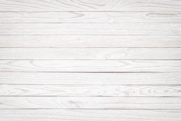 Białe deski jako tło, lekka tekstura drewniany stół lub podłoga