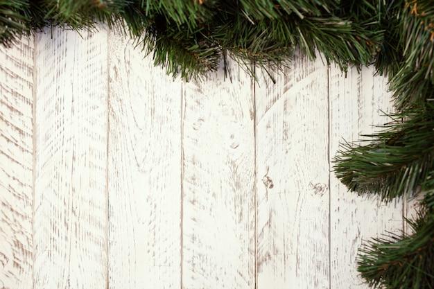 Białe drewniane tło boże narodzenie.