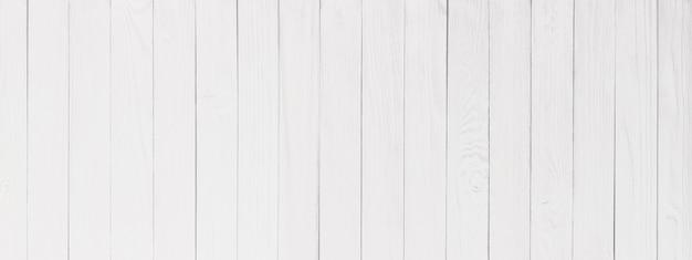 Białe drewno zbliżenie tekstury, ściana powierzchni drewnianego stołu, panorama