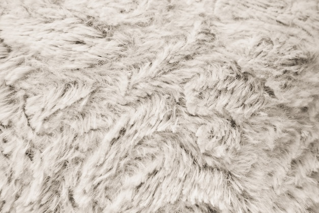 Białe futro tekstury. zamknąć widok