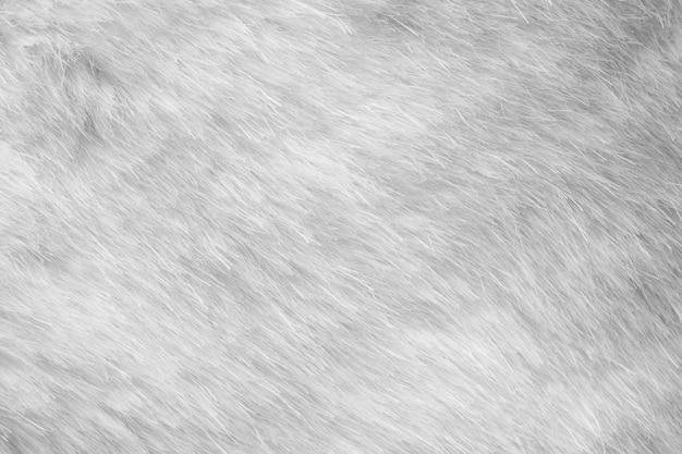 Białe futro tkaniny tekstura tło