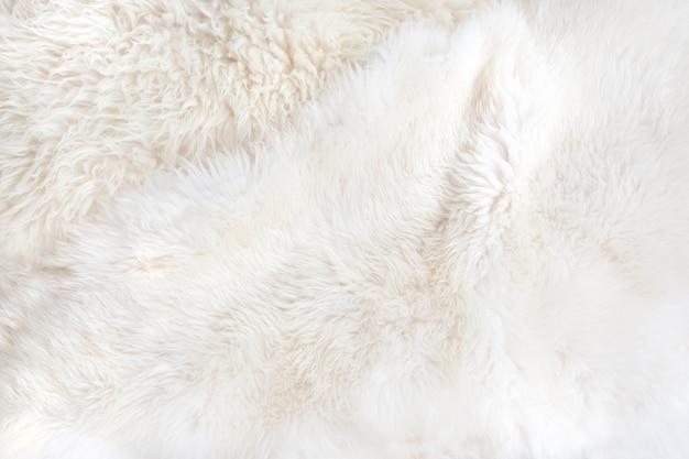 Białe futro z bliska