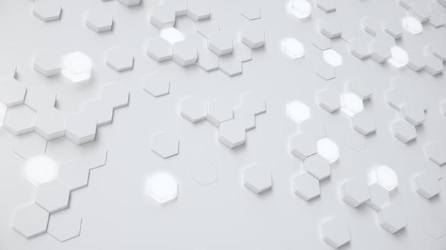 Białe geometryczne sześciokątne streszczenie