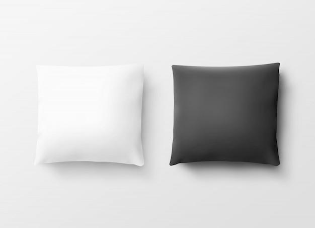 Białe i czarne poszewki na poduszki