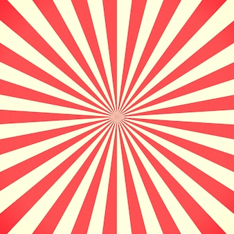 Białe i czerwone tło wzór sunburst