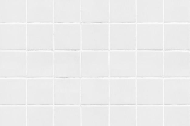 Białe kwadratowe kafelki tekstury tła