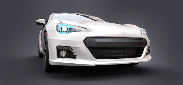 Białe, małe sportowe auto coupe