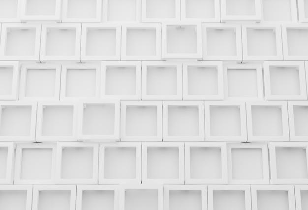 Białe nowoczesne tło z geometrycznymi kształtami