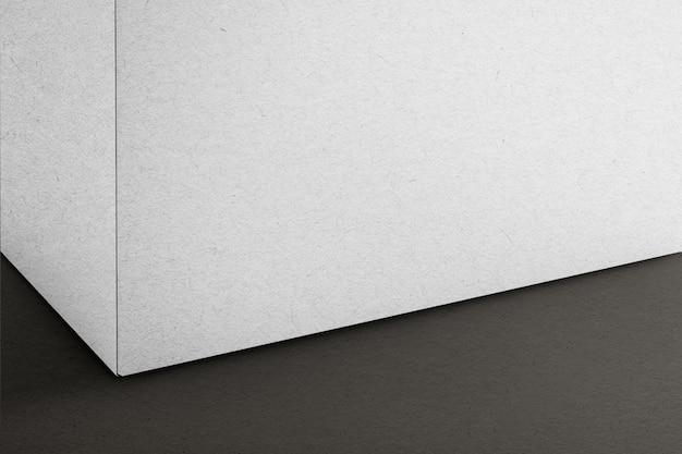 Białe opakowanie kartonowe z miejscem na projekt