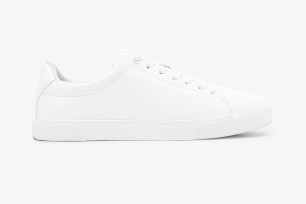 Białe płócienne trampki unisex obuwie moda