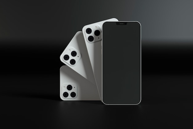 Białe projekty smartfonów