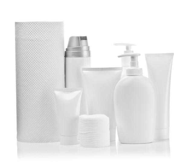 Białe przedmioty kosmetyczne