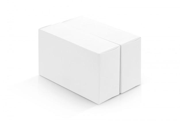 Białe pudełka papierowe