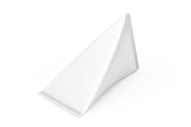 Białe pudełko kartonowe z kremem, sokiem lub mlekiem makieta na białym tle. renderowanie 3d