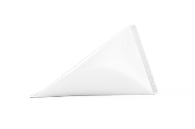 Białe Pudełko Kartonowe Z Kremem, Sokiem Lub Mlekiem Makieta Na Białym Tle. Renderowanie 3d Premium Zdjęcia