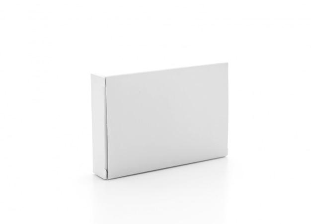 Białe pudełko z papieru