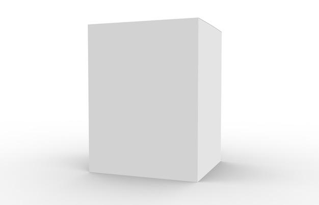 Białe puste opakowanie produktu