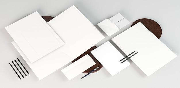 Białe puste papierowe dokumenty kopia przestrzeń