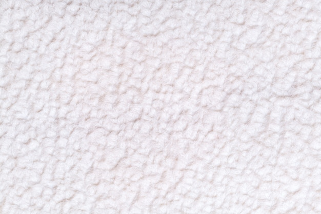 Białe puszyste tło z miękkiej, miękkiej tkaniny