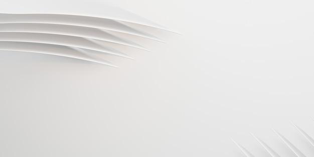 Białe równoległe linie łukowa fala z tworzywa sztucznego powierzchnia zakrzywiona krzywa abstrakcyjne tło