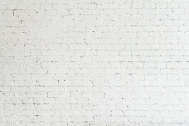 Białe ściany cegły
