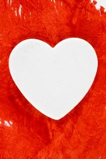 Białe serce krwawienie