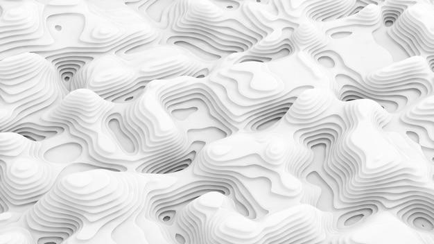 Białe tło. ilustracja, renderowanie 3d.