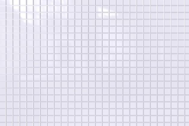Białe tło płytek lub białe tło mozaiki