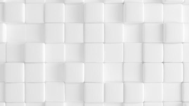 Białe tło tekstura z geometrycznymi kształtami. renderowanie 3d.