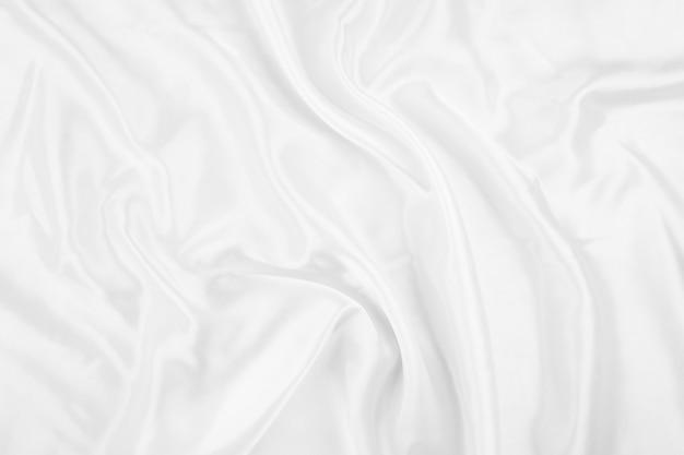 Białe tło tekstury tkaniny, abstrakcyjne