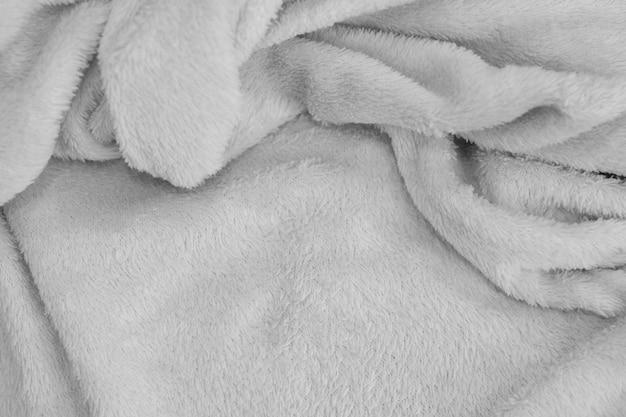 Białe tło, zbliżenie tekstury tkaniny