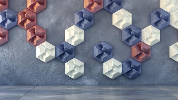 Białe wnętrze tekstura tło. ilustracja, renderowanie 3d.