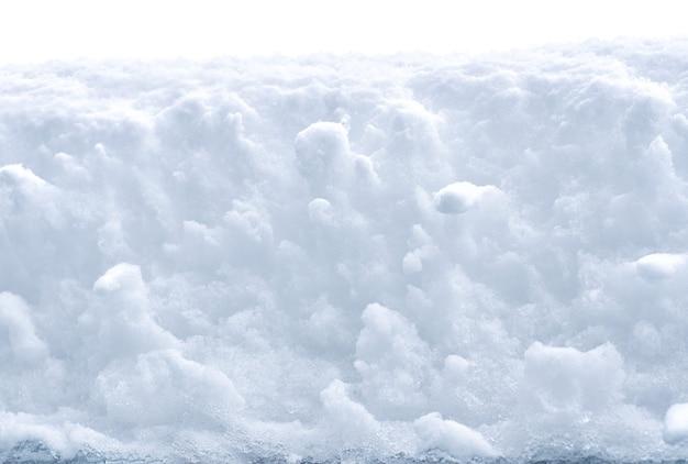 Białe zaspy śnieżne tekstury tła