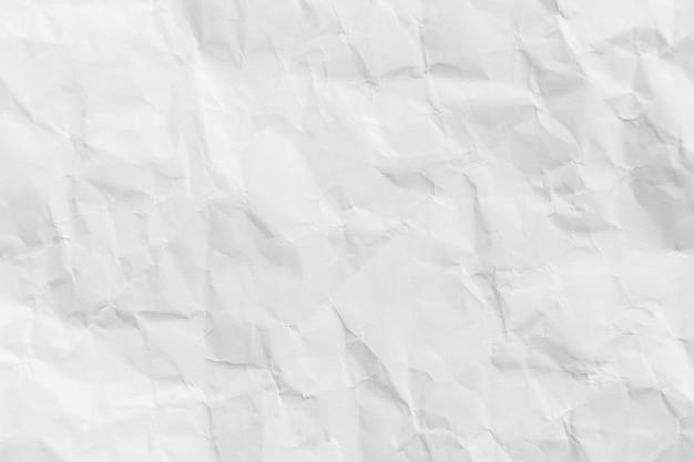 Białe zmięty papier makulaturowy tekstura tło dla projektu
