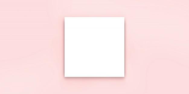 Białego paparycznego pustego broszurka egzaminu próbnego odosobniony biel