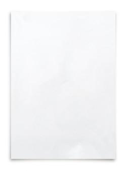 Białego papieru prześcieradło odizolowywający na białym tle