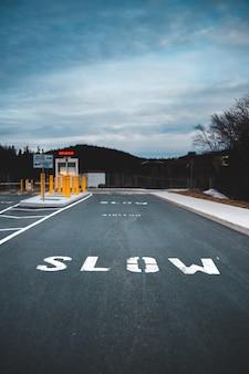 Biało-czarna linia dla pieszych